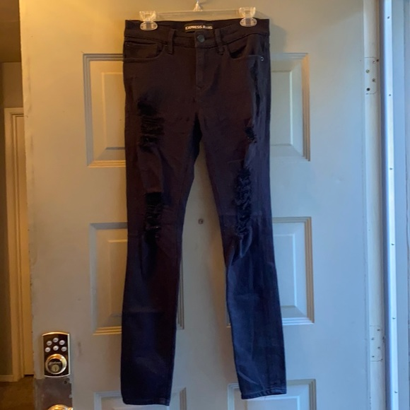 Express black with tears jeans